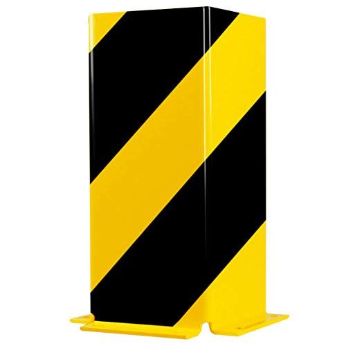 ROBUSTO Anfahrschutzprofil U, zum Aufdübeln, gelb/schwarz, Höhe 40 cm aus Stahl