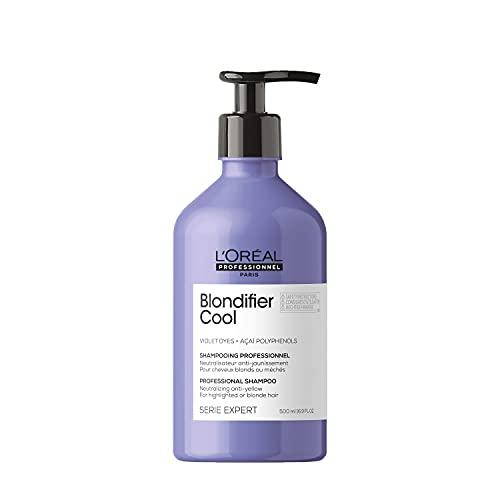L'Oréal Professionnel | Shampoing Neutralisant pour Cheveux Blonds et Méchés, Blondifier Cool, SERIE EXPERT, 500 ml
