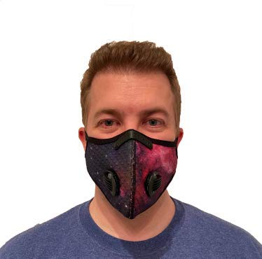 ROXX (Galaxy Purple Outdoor Cycling Mesh Mask with Changeable Filter, Unisex Anti Pollen Allergens PM2.5 Filters Dust Includes Filter