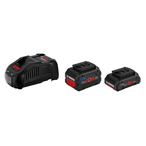 Bosch Professional 18V System Akku-Set (ProCORE18V 4.0Ah Akku + ProCORE18V 8.0Ah Akku + Ladegerät GAL 1880 CV, im Karton)