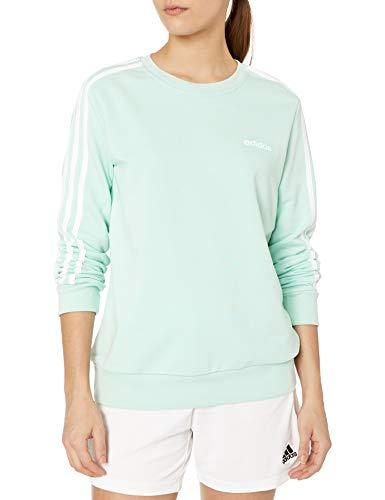 adidas Womenomen E 3s Sweat Ft, Green Tint/White, Medium