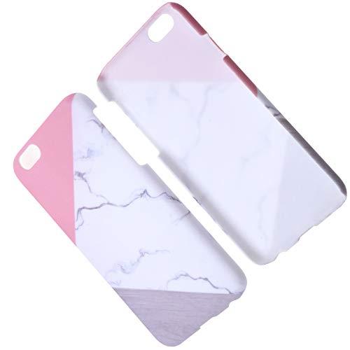 BIYM - Carcasa para iPhone 6/6S Granite Marble Contraste Color PC Duro Funda de teléfono Protección