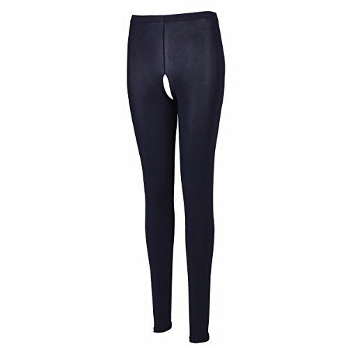 FEESHOW Damen Transparente Lingerie Leggings elastische Strumpfhose Ouvert Hosen Tights Pantyhose Erotik Unterwäsche Reizwäsche...