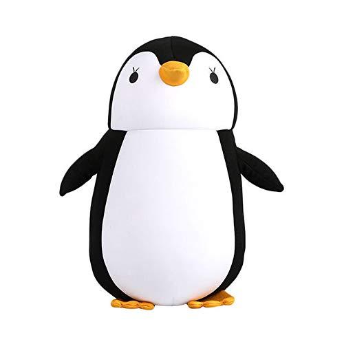 Puwind 2 en 1 almohada de cuello en forma de U almohadas de viaje de dibujos animados forma de animal almohada convertible para adultos y niños 1 unids pingüino negro