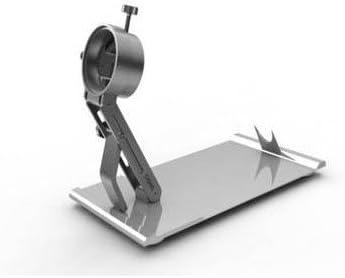 SAIGO Soporte Jamonero Plegable y Giratorio, Acero Inoxidable, Plateado, 520 x 260 x 100 mm