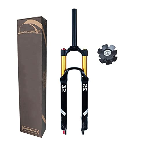 Horquilla MTB 26/27.5/29 Pulgadas, Ultraligero Aleación Magnesio Horquilla Aire Bicicleta 1-1/8' Horquilla Bicicleta Viaje 140mm (Color : A, Size : 27.5 Inch - 120mm)