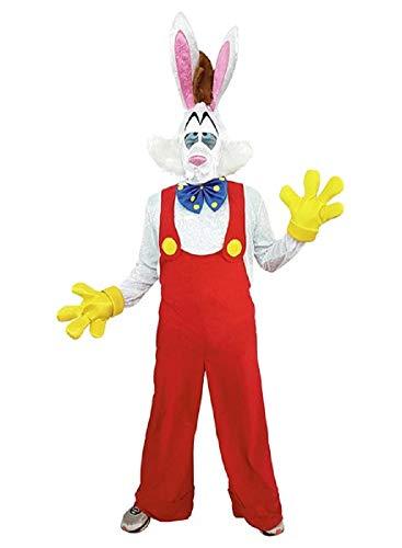 PRESTIGE & DELUXE Costume Vestito Carnevale Adulto Roger Rabbit Coniglio Taglia Unica