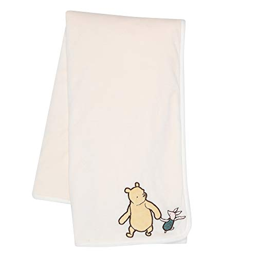 Lambs & Ivy Disney Baby Storytime Pooh Ultra Soft Baby Blanket - White