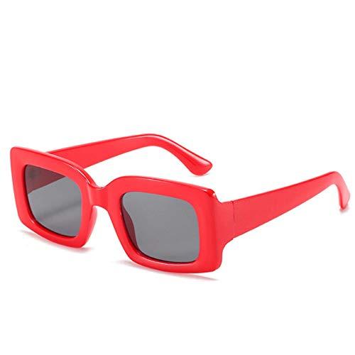 Gafas De Sol Hombre Mujeres Ciclismo Gafas De Sol Cuadradas Mujer Hombre Moda Vintage Gafas De Sol Gafas Hombre Mujer Azul -Rojo