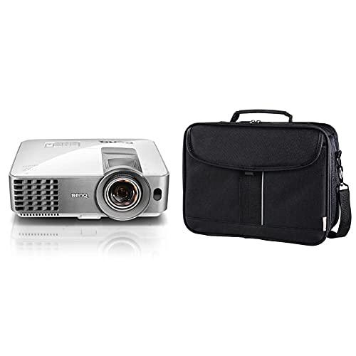 BenQ MW632ST DLP-Projektor (WXGA, 1200 x 800 Pixel, 3.200 ANSI Lumen, HDMI, 13.000:1 Kontrast, 3D) & Hama Sportsline Beamertasche groß (Projektor Tasche Größe L, 27 x 39 x 15 cm) Schwarz
