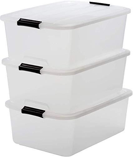Iris Top Box TB-30 Juego de 3 Cajas de Almacenamiento con Tapa, 30 L, 39 x 57.5 x 20.5 cm, 3 Unidades