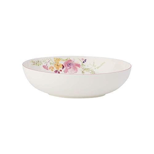 Villeroy & Boch Mariefleur Basic Plat creux de service ovale, 26 cm, Porcelaine Premium, Blanc/Multicolore
