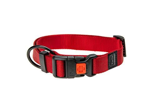 Karlie Art Sportiv Plus Halsband verstellbar neue universal Farben Mix and Match L: 45 - 65 cm B: 25 mm L rot