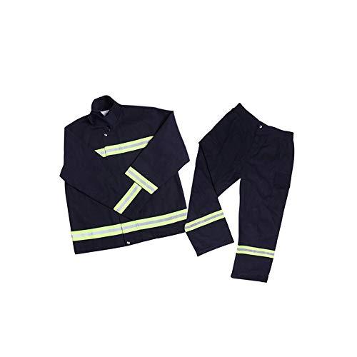Extaum Feuerfeste Kleidung Feuerlöschausrüstung Flammhemmende Kleidung Feuerfeste wasserdichte hitzebeständige Schutzkleidung Mantelhose