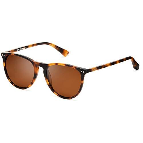 MVMT Ingram | Polarized Round Women's & Men's Sunglasses | Matte Brandy Tortoise | 54 mm