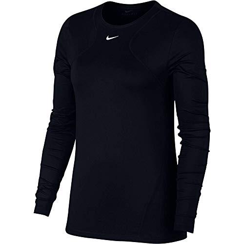 Nike PRO all-Over-Mesh, Canottiera Sportiva Donna, Nero (Black/White 010), Medium