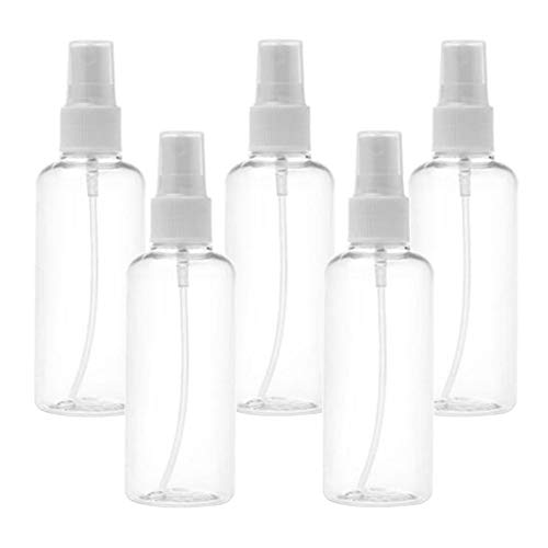 lahomia 5x Plastic Clear Spray Refillable Fine Mist Sprayer Bottles Container for Liquid - 100ml