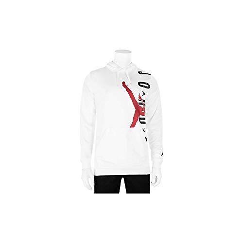 Nike Jordan Jumpman Air Lwt Sudadera, Hombre, Blanco (White/Gym Red), XL