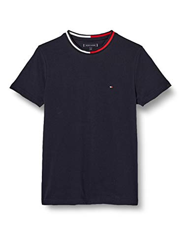 Tommy Hilfiger TH Cool Flag Collar Tee Camicia, Blue, L Uomo
