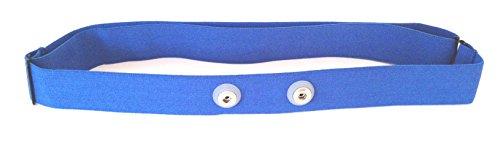 GO-SHOPPING24 Brustgurt Soft-Strap BLAU für Polar H1, H2, H3, H6, H7, H10 in Größe M-XXL
