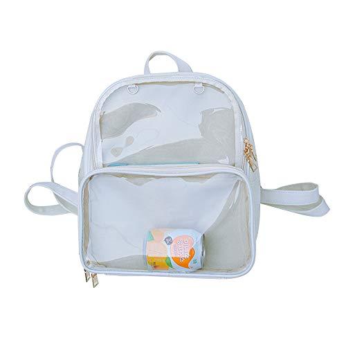 Ita Bag - Mochila con diseño de chinchetas, ventana transparente, color caramelo, color Marfil, talla 33 EU