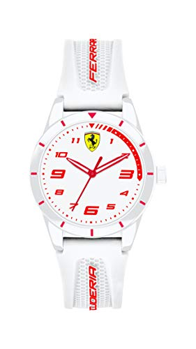 Scuderia Ferrari Unisex Kinder Analog Quarz Uhr mit Silikon Armband 0860011
