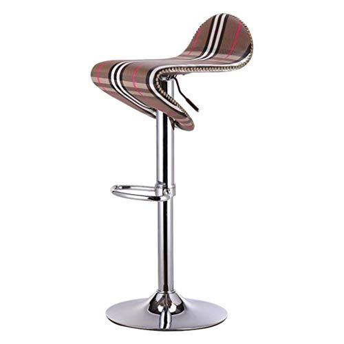 WYJW Barhocker Stuhl Fußstütze mit PU Sitzlehne Einstellbare Gasfeder 58~80 cm Esszimmerstühle für Küche Frühstück Pub Cafcute; Bartresenhocker verchromter Tellerfuß max. Laden Sie 150 kg