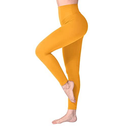 SINOPHANT Leggins Mujer, Pantalon Deporte Yoga Mujer, Leggings Mujer Fitness Suaves Elásticos Cintura Alta para Reducir Vientre