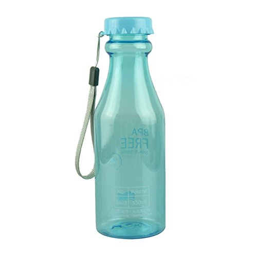 Water Bottle, Iusun 550ml Plastic BPA Free Cycling Bicycle Bike Sports Unbreakable Water Bottle (Sky Blue)