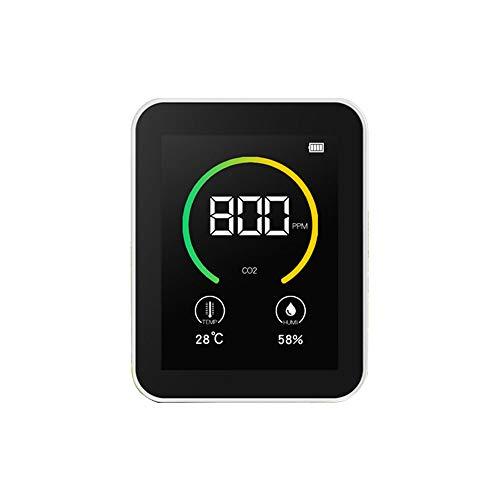 HaavPoois Kohlendioxid-Tester Co2-detektor Gaskonzentration Inhalt Messgerät Smart Air Quality Monitor Mit Farbbildschirm Tft USB Wiederaufladbare Lithiumbatterie