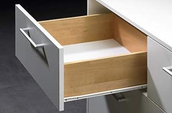 Montage sur le fond Glissi/ères /à tiroir Style europ/éen 400 mm Peinture en poudre blanche 5 Paires