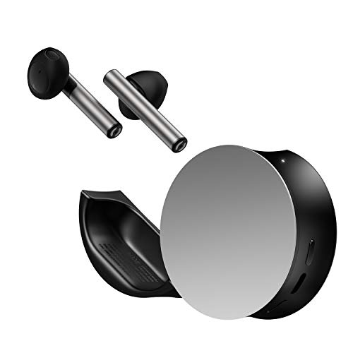 ODDICT TWIG True Wireless Bluetooth Earbuds Black and Silver, Aluminum Body Design and Premium Clear Sound, Charging Case Included, EQ and Find Me App, Quick Charge, IPX4
