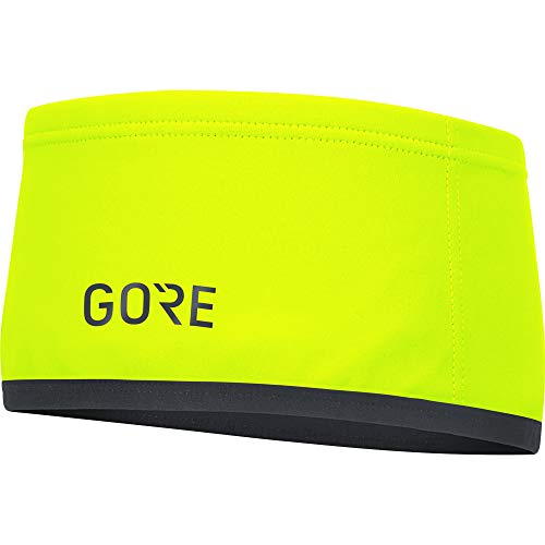 GORE WEAR M Unisex Stirnband GORE WINDSTOPPER, Größe: ONE, Farbe: Neon-Gelb