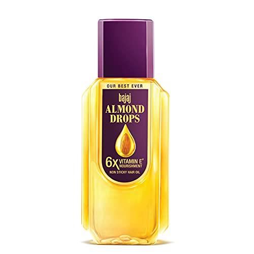 Bajaj Almond Drops Hair Oil enriched with 6X Vitamin E, Reduces Hair Fall, 300 ml