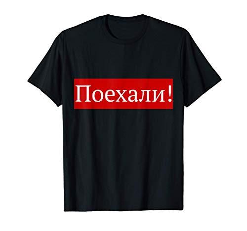 ¡Vamos! Gagarin y el Día de la Cosmonáutica Ruso Camiseta