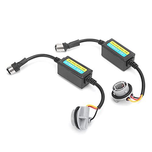 Decodificador LED, resistencia duradera 12-24 V antiparpadeo Fácil conveniente 2 piezas profesional para 1157 BAY15D, bombillas P21 / 5W para convertir lámpara halógena en LED