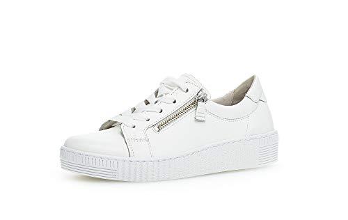 Gabor Damen Sneaker, Frauen Sneaker Low,Wechselfußbett,Best Fitting, strassenschuh schnürschuh sportschuh,Weiss (Ice),39 EU / 6 UK