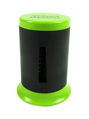 YOKO DESIGN 1094 Eminceur Twist pour Julienne de légumes, PVC, Vert/Noir, 6,4 cm
