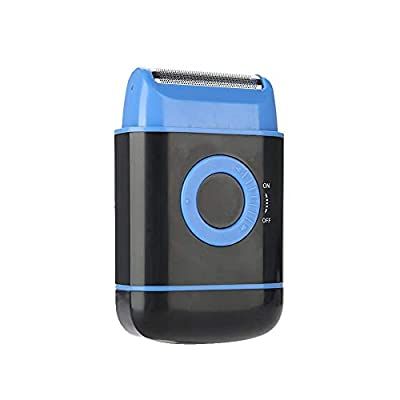 Men's Shaver, Electric Shaver Dry Battery, Electric Beard Reciprocating, Shaver Black/Blue/Red, Best Gift for Men(Blue) from Salmue