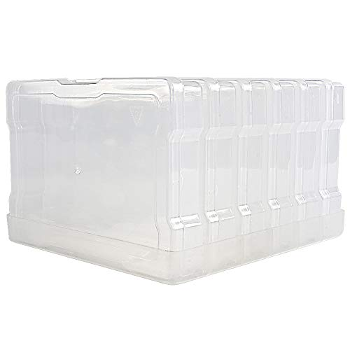 """Novelinks Transparent 4"""" x 6"""" Photo Storage Boxes - Photo Organizer Cases Photo Keeper Picture Storage Containers Box for Photos - 6 Pack (Clear)"""