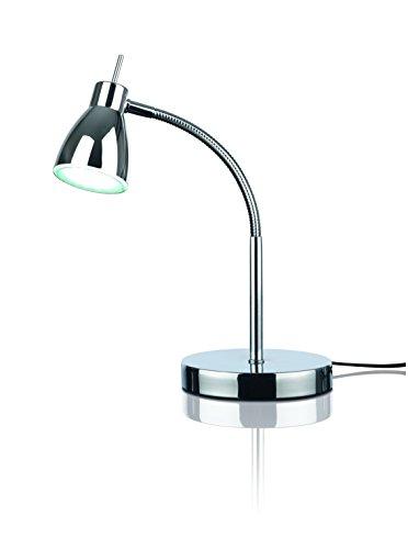 EASYmaxx 07391 LED-Tischleuchte Daylight | Tageslichtlampe, Augenschonend, Energiesparend | flexibler Lampenhals, Silber