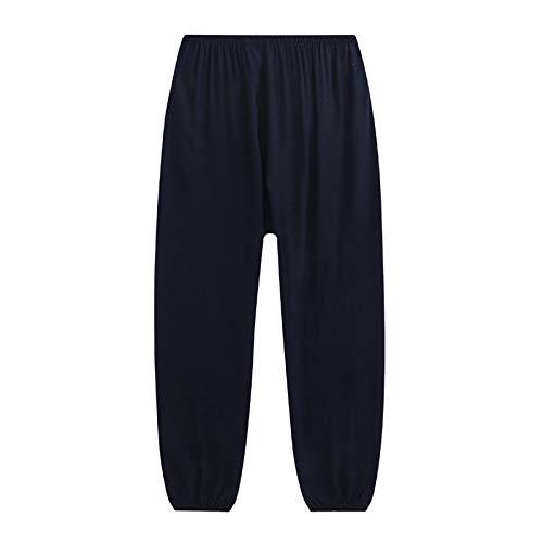 XLYAN Tai Chi Harem Pantalons Yoga Pantalons Coton Pantalon Moustique Pantalon Climatisation Femelle,Black-S