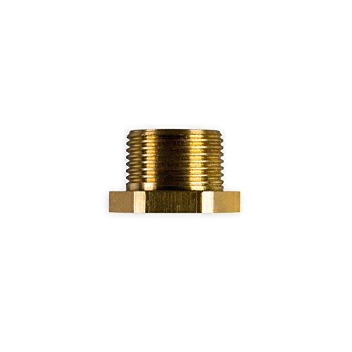 PureOne R12 Reduzierung - Messing Gewinde-Reduzierer von 3/4 Zoll AG auf 1/2 Zoll IG. Für Wasser-Filteranlagen, Wasserfilter, Osmose, Umkehrosmose und Wasserleitungen
