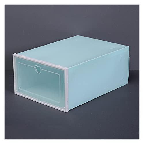 Allenzhang Caja de zapatos engrosada Claza de plástico transparente Rack de zapatos para ahorro de espacio Dormitorio Ahorro de distribución Artefacto Caja de almacenamiento grande ( Color : D2 1 )