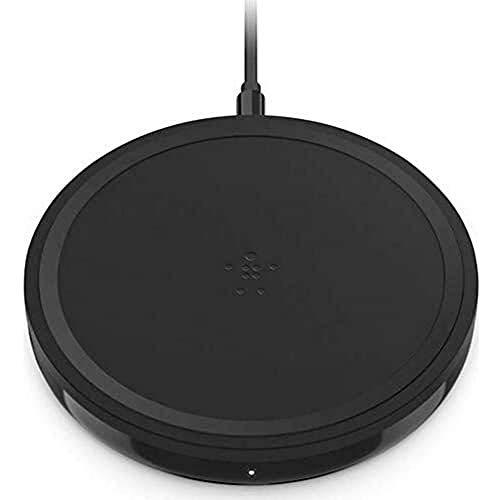 Belkin base de carga inalámbrica de 10 W Boost Up (cargador Qi, iPhone12, 12Pro, 12Pro Max, 12 mini y anteriores, Samsung S20,20+,20 Ultra y Airpods, adaptador de corriente incluido), negro