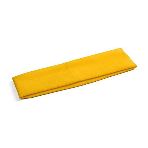 GGBHD Absorbiendo el sudor diadema Color Color Color Pelo Pelo Pelo Popular Para Mujeres Venda (Color : Yellow)