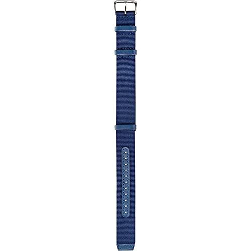Correa NATO Vintage tela y piel Pilot cinta azul Ansa 22mm para Reloj Omega Rolex Panerai Morellato