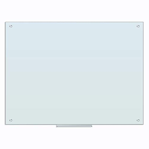 U Brands Glass Dry Erase Board, 35 x 47 Inches, White Frosted Non-Magnetic Surface, Frameless (121U00-01)