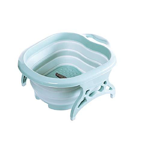 Platzspar-Fußbad, Fuß-Pflege-Wanne faltbar, Spülwanne Schüssel, Waschen Reinigen Pflege Pedikür gepflegte Füße, Kunststoff
