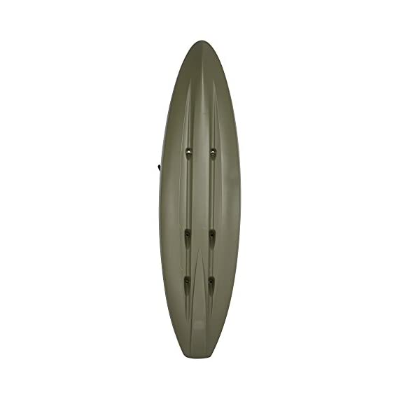 Lifetime triton angler 100 fishing kayak, olive green 3 stable hull design and integrated skeg for tracking performance multiple footrest positions for different size paddlers - 275 lb. Weight capacity self-bailing scupper holes to drain water from the cockpit and tankwell